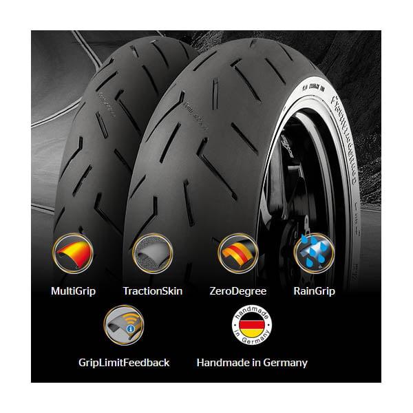 Continental sport attack 4 uusi moottoripyörän rengas