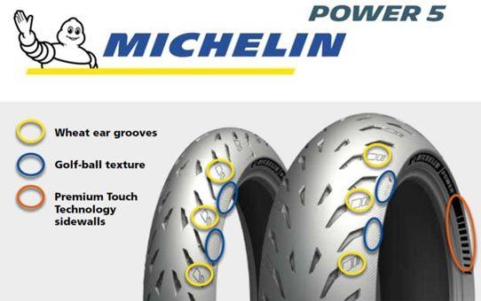 Moottoripyörän rengas Michelin Power 5
